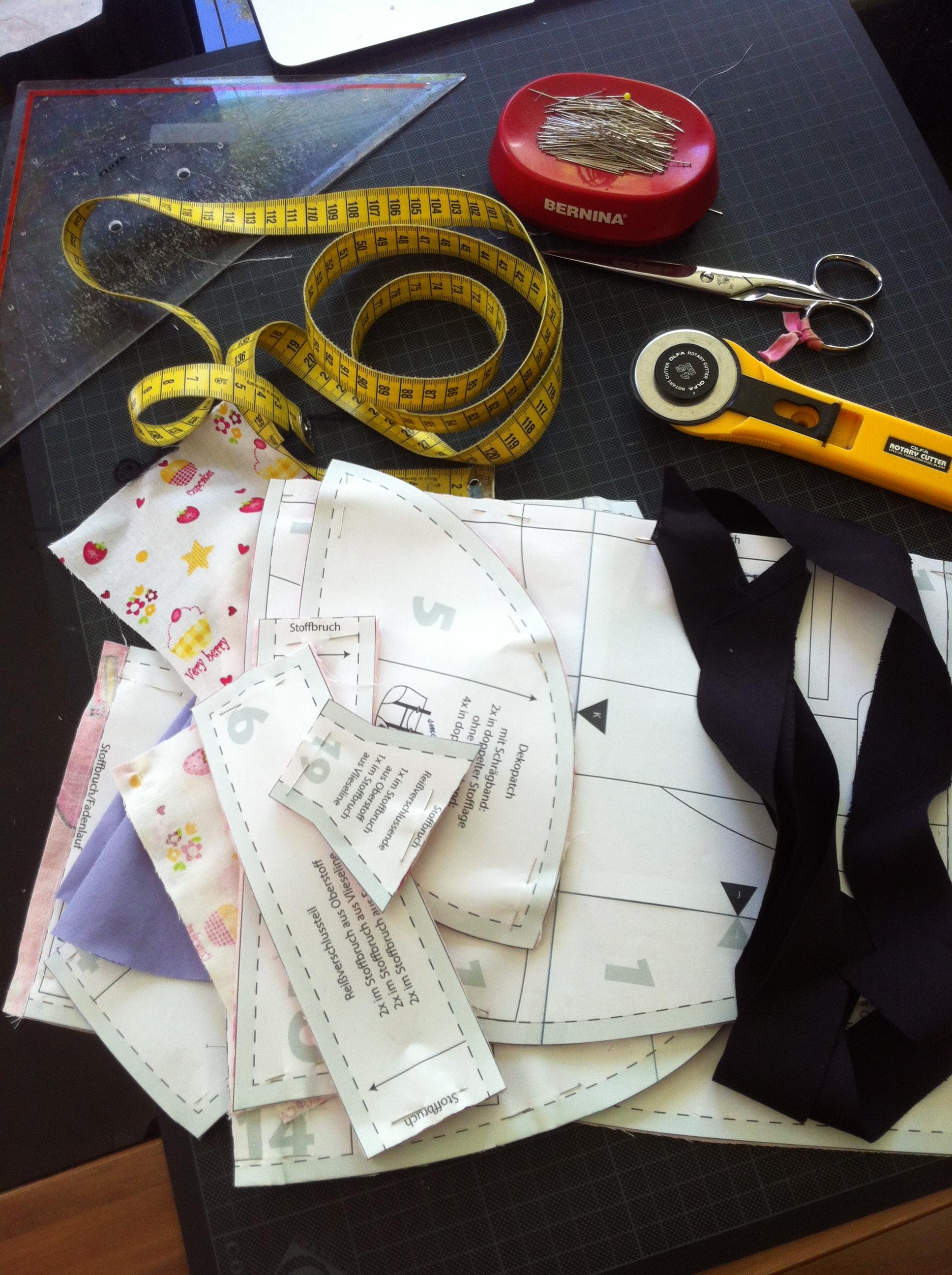 Tasche zuschneiden