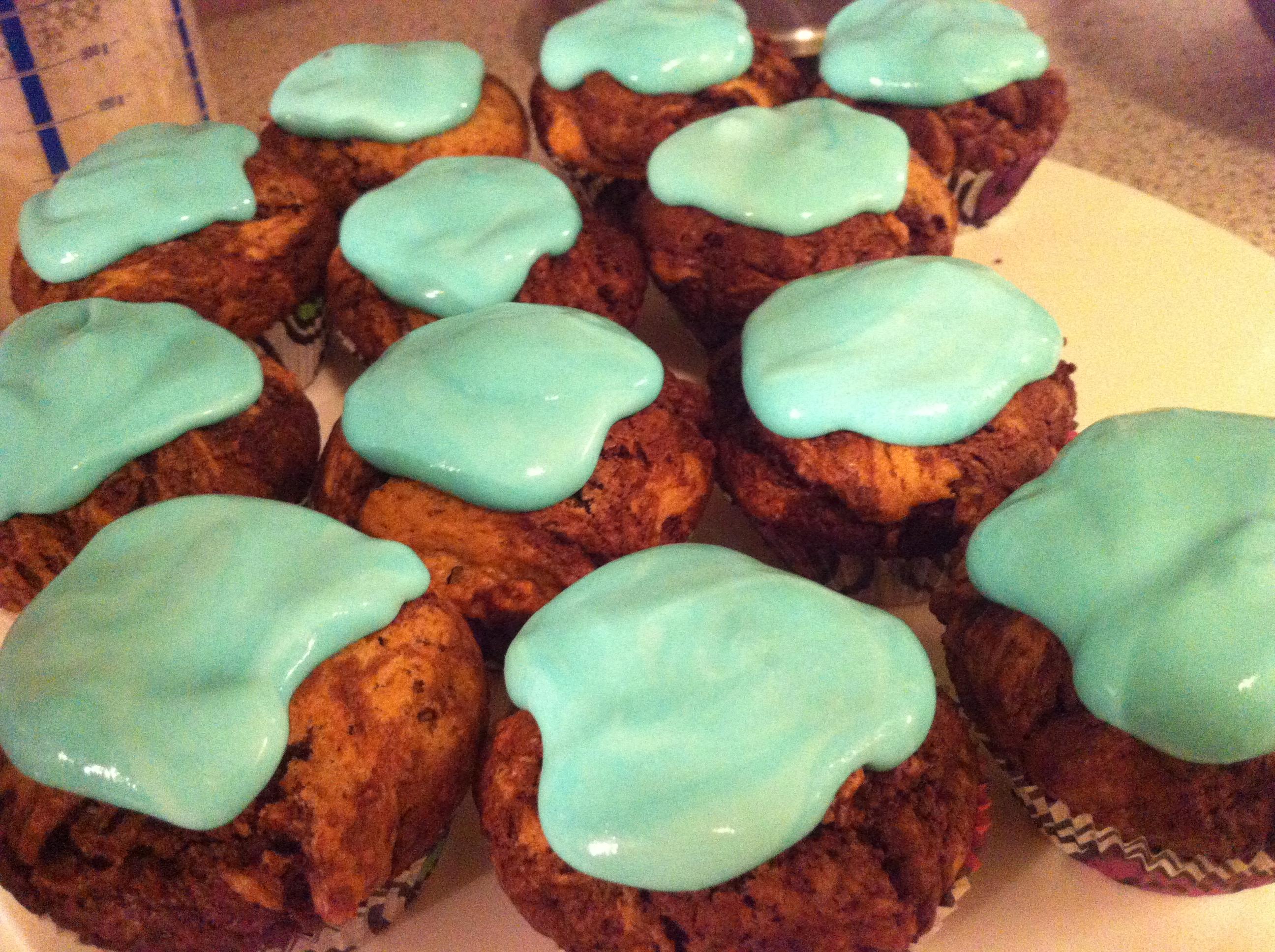 Schlumpf Cupcakes