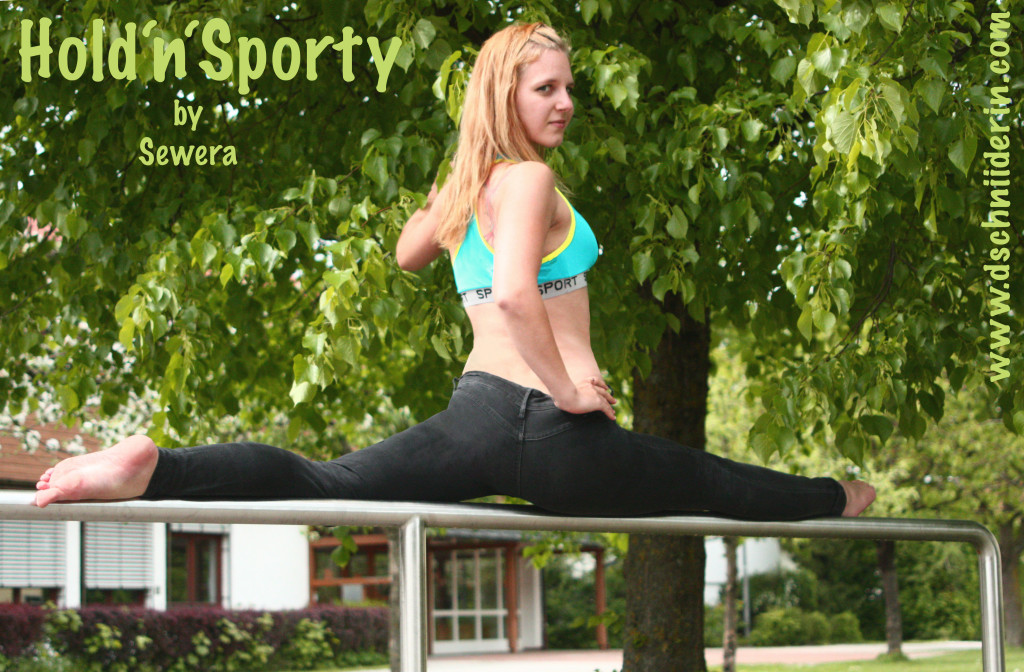 Flexibility and selfmade sport bra