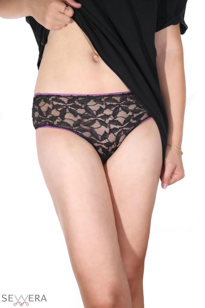 black lacy panty