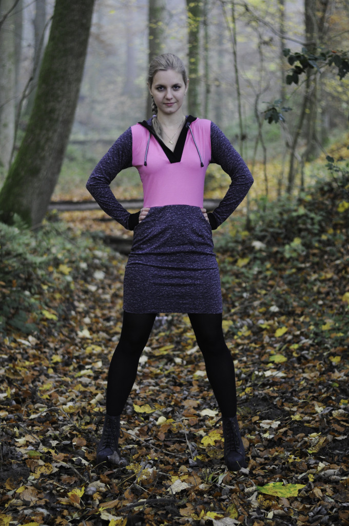 pink in the forrest