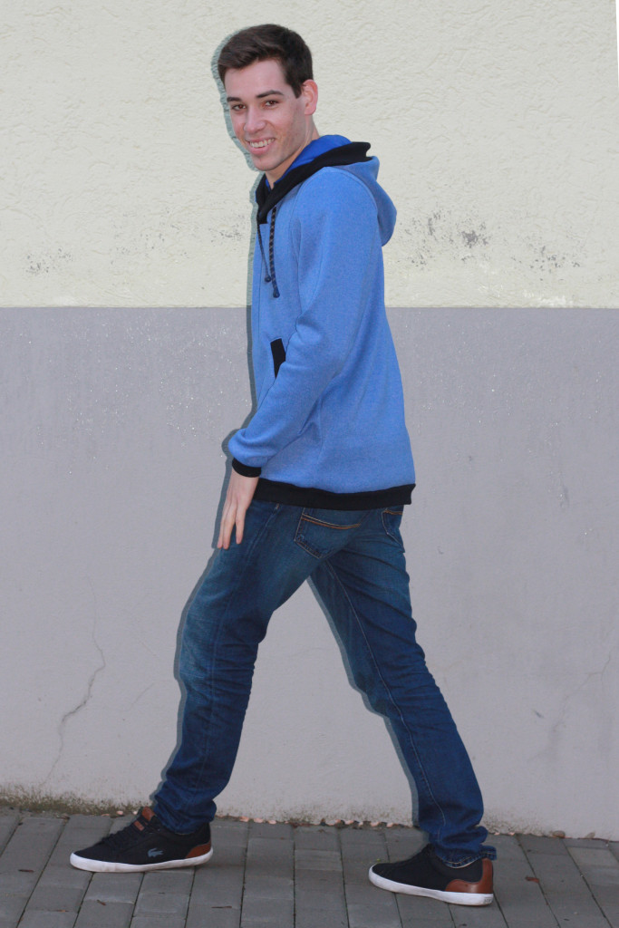 blue hoodie for men