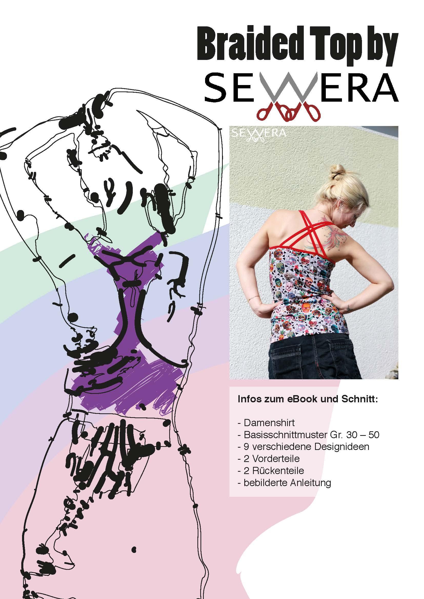 Papierschnittmuster Braided Top by Sewera - Sewera Fashion