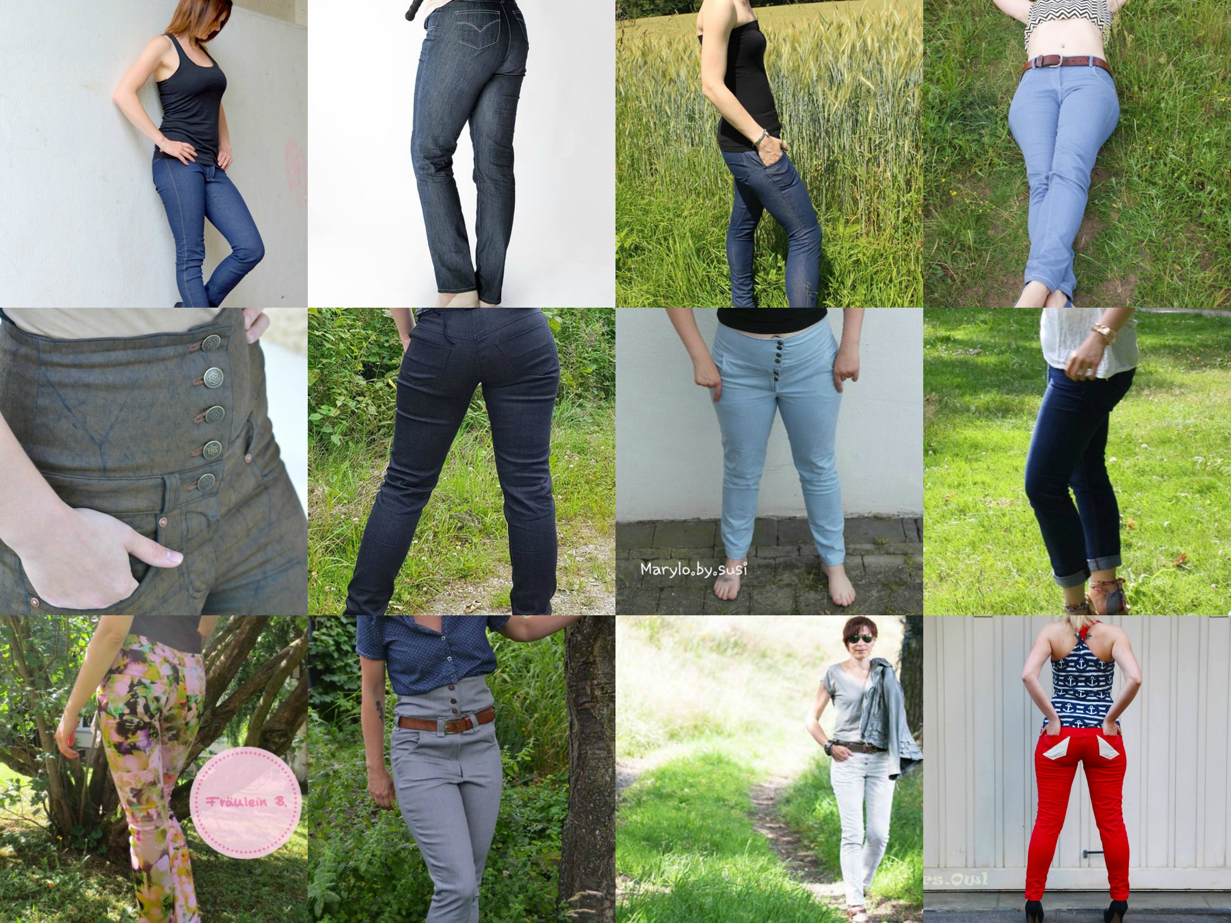 Skinnyjeans Schnittmuster & Anleitung by Sewera - Sewera Fashion