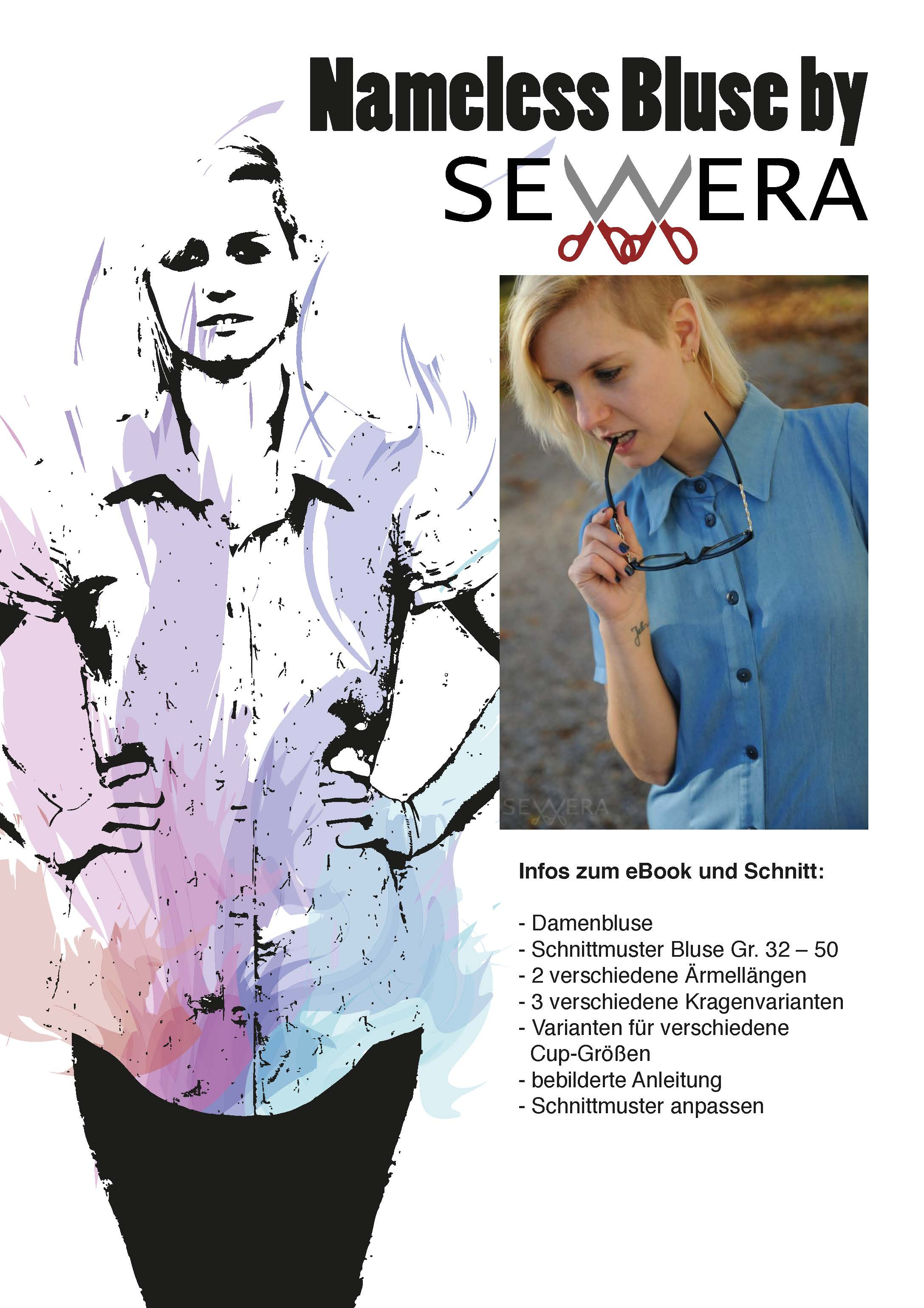 Nameless Bluse Schnittmuster und Anleitung by Sewera - Sewera Fashion