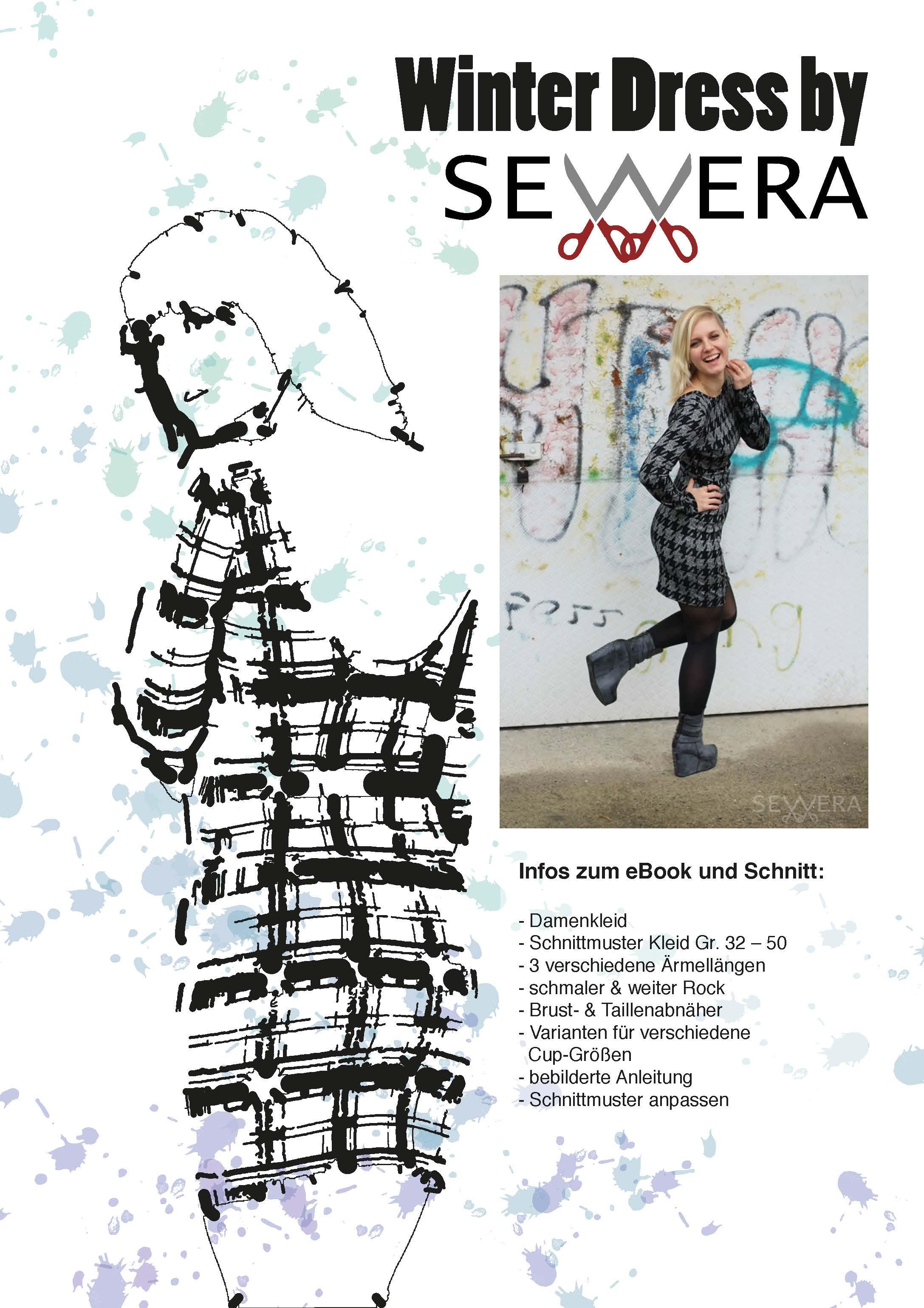Winter Dress Schnittmuster & Anleitung by Sewera - Sewera Fashion