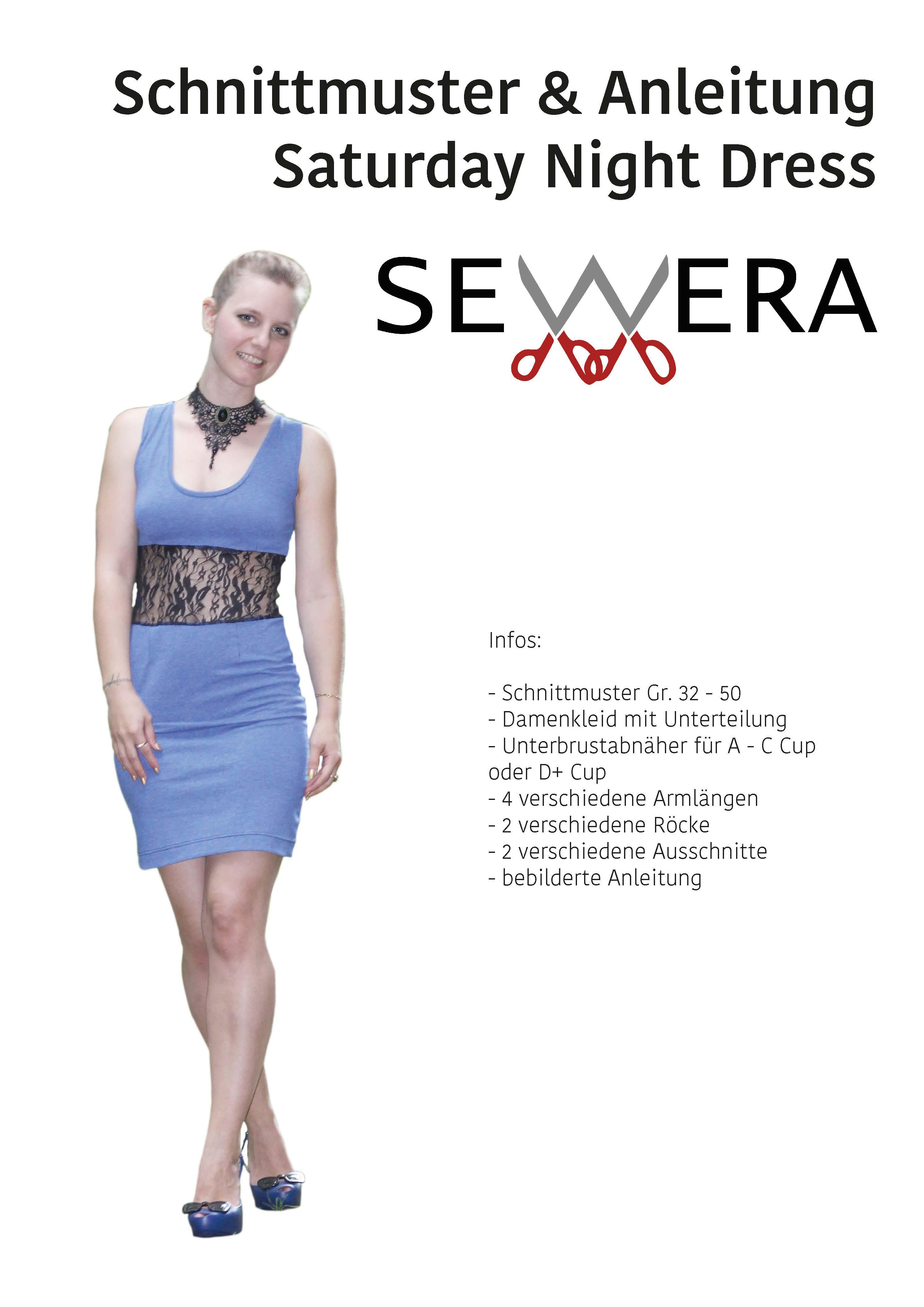 Saturday Night Dress Schnittmuster & Anleitung by Sewera - Sewera ...
