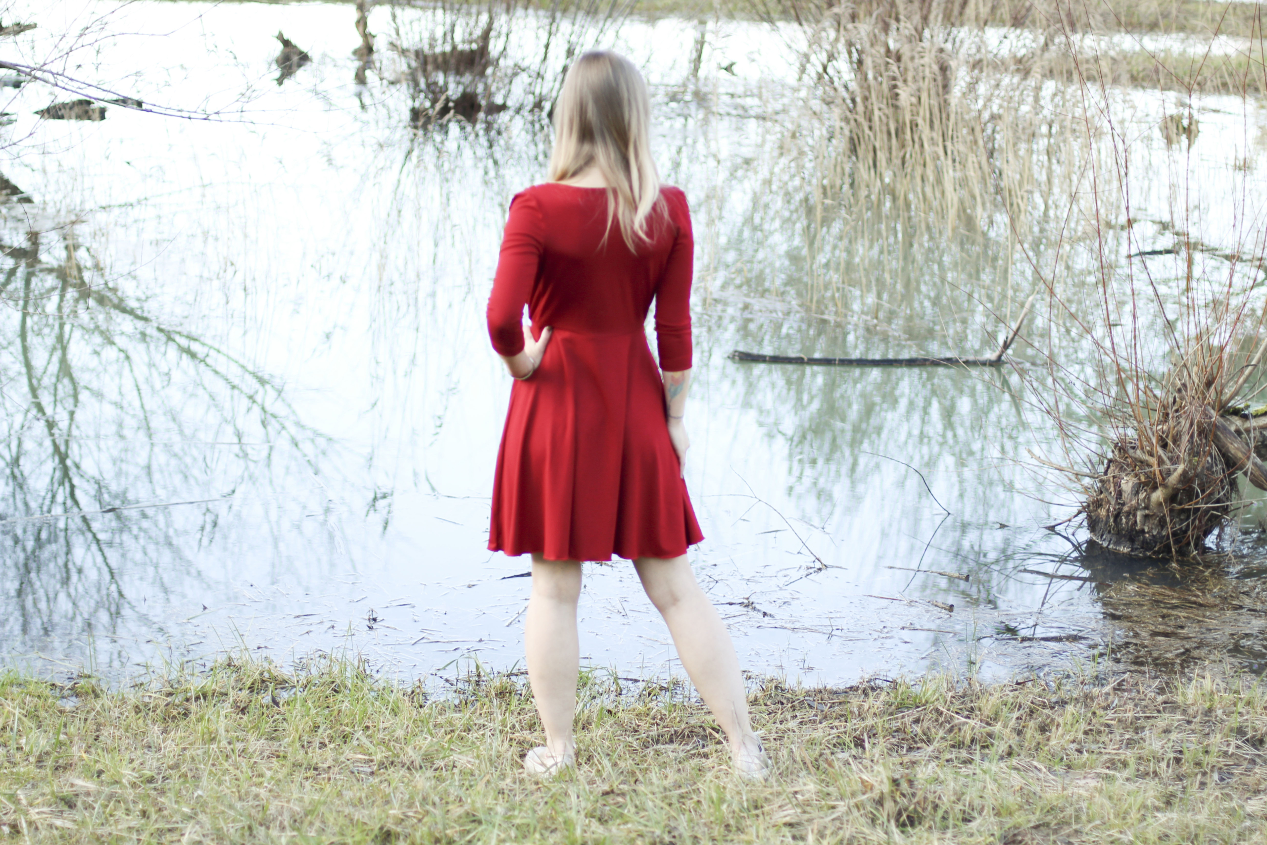 ein traum in rot - das glam dress - sewera fashion